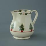 Brixton Pottery Christmas Tree handmade pottery 1.25 Pint Jug