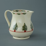 Brixton Pottery Christmas Tree handmade pottery 1.25 Pint Jug