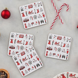 London Christmas Set of 4 Coasters from Victoria Eggs.
