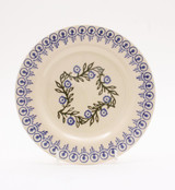 Brixton Pottery Floral Garland handmade pottery 9 inch side plate