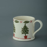 Brixton Pottery Christmas Tree handmade pottery mug