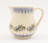 Brixton Pottery Floral Garland handmade pottery medium jug 12 fl oz