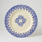 Brixton Pottery Lacey Blue handmade pottery 7 inch side plate