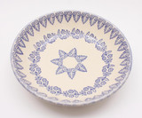Brixton Pottery Lacey Blue handmade pottery serving dish