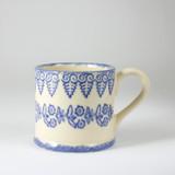 Brixton Pottery Lacey Blue handmade pottery mug