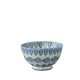 Brixton Pottery Lacey Blue Medium Bowl