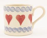 Brixton Pottery Hearts handmade pottery mug