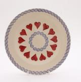 Brixton Pottery Hearts handmade pottery 7 inch side plate