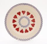 Brixton Pottery Hearts handmade pottery 9 inch side plate