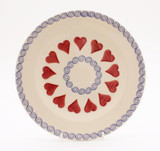 Brixton Pottery Hearts handmade pottery 9 inch side plate