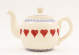 Brixton Pottery Hearts handmade pottery 4 Cup teapot