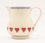 Brixton Pottery Hearts medium pottery jug.