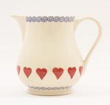 Brixton Pottery Hearts medium pottery jug.