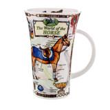 Dunoon fine bone china World of Horse mug in the Glencoe shape. Handmade in England.