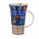 Dunoon fine bone china Solar System mug in the Glencoe shape. Handmade in England.