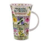 Dunoon fine bone china Herbal Remedies mug in the Glencoe shape. Handmade in England.