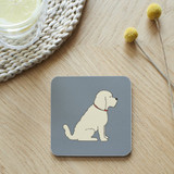 Mischievous Mutts Coaster - Apricot Cockapoo/Labradoodle