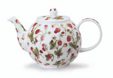 Fine bone china Dunoon Dovedale Strawberry small teapot.