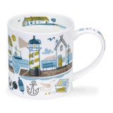 Dunoon Orkney Beachcomber bone china mug - Lighthouse.