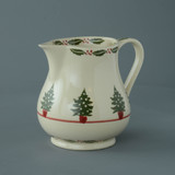 Brixton Pottery Christmas Tree handmade pottery medium jug 12 fl oz