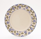 Brixton Pottery Geranium handmade pottery 9 inch dessert plate