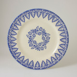 Brixton Pottery Lacey Blue handmade pottery 9 inch dessert plate