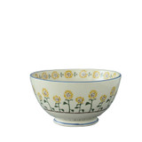 Brixton Pottery Sunflowers handmade pottery Deep Serving Bowl