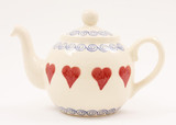Brixton Pottery Hearts handmade pottery 2 Cup teapot