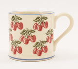 Brixton Pottery Cherries handmade pottery mug