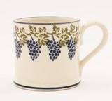 Brixton Pottery Grapes & Vine handmade pottery mug