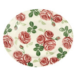 Pink Roses Oval Platter-- Hand made in England