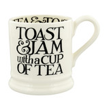 Black Toast Toast & Jam 1/2 Pint Mug
