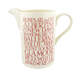 Tall straight hand made jug in Emma Bridgewater's Pink Toast roses pattern.