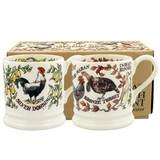 Farmyard Birds set of 2 1/2 pint mugs (boxed)