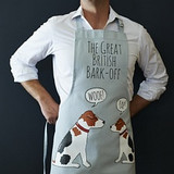 Organic cotton Jack Russell apron from Sweet William Designs.