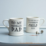 Pottery Marvellous Dad mug from Sweet William Designs.