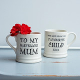 Pottery Marvellous Mum mug from Sweet William Designs.