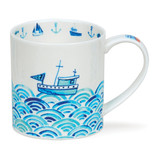Fine bone china Dunoon Orkney Anchors Away mug