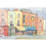 Mounted print of Portobello Road London by Emma Ball.