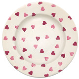 Emma Bridgewater Pink Hearts 10 1/2 inch plate.