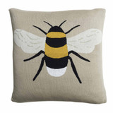 Sophie Allport Bees knitted statement pillow. 100% Cotton.