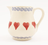 Brixton Pottery Hearts Small Jug 350 ml