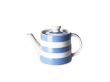 Cornishware Striped Classic Teapot - blue