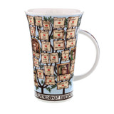 Dunoon fine bone china Kings & Queens of England mug in the Glencoe shape. Handmade in England.
