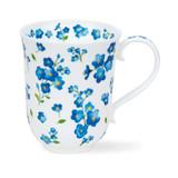 Dunoon Fine Bone China Braemar Petites Fleurs Mug - Blue