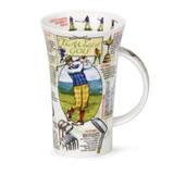 Dunoon fine bone china World of Golf mug in the Glencoe shape. Handmade in England.