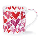 Fine bone china Dunoon Orkney With Love mug - Red