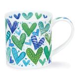 Fine bone china Dunoon Orkney With Love mug - Green