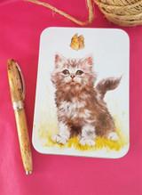 Jo Stockdale Best Friends Kitten Small Rectangular Tin.