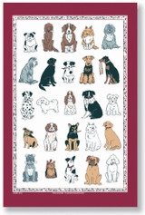 Dogs Galore Tea Towel from Ulster Weavers
